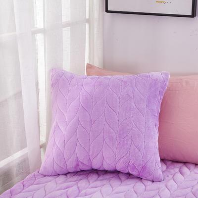 2020新款-麦穗系列飘窗垫单抱枕 45*45cm抱枕含芯/个 贵族紫