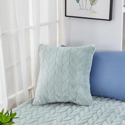 2020新款-麦穗系列飘窗垫单抱枕 45*45cm抱枕含芯/个 抹茶绿