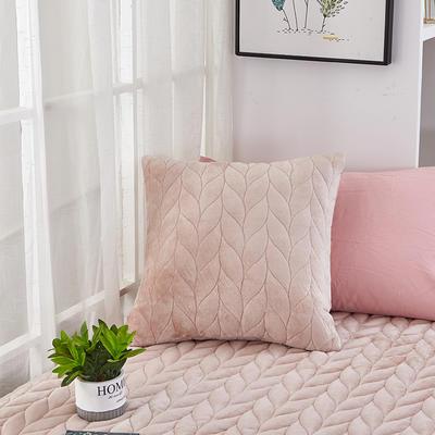 2020新款-麦穗系列飘窗垫单抱枕 45*45cm抱枕含芯/个 浅豆沙