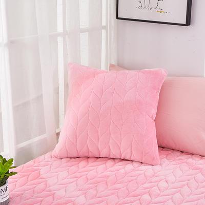 2020新款-麦穗系列飘窗垫单抱枕 45*45cm抱枕含芯/个 肉粉