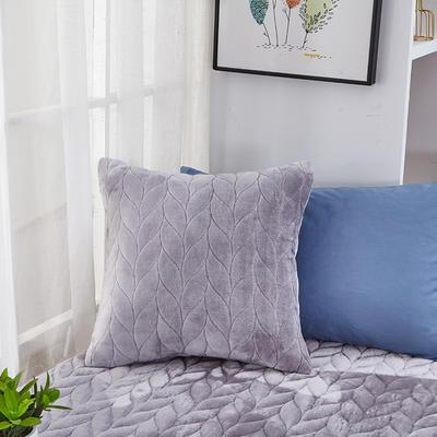 2020新款-麦穗系列飘窗垫单抱枕 45*45cm抱枕含芯/个 月灰