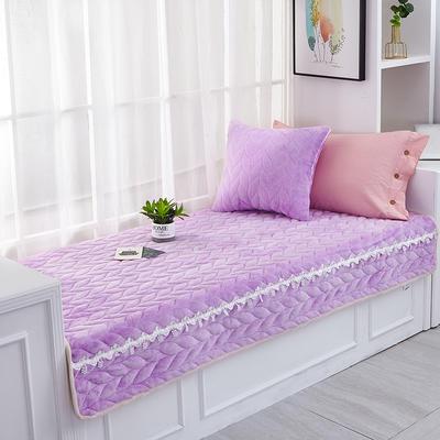 2020新款-麦穗系列飘窗垫 50+20垂边*150cm 贵族紫