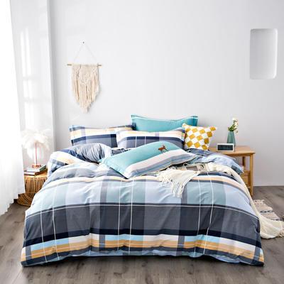 2020秋冬新品加厚全棉生态磨毛四件套 床单款四件套1.5m(5英尺)床 律动
