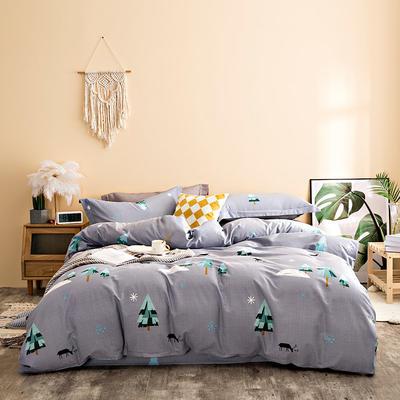 2020秋冬新品加厚全棉生态磨毛四件套 床单款四件套1.5m(5英尺)床 绿野仙踪