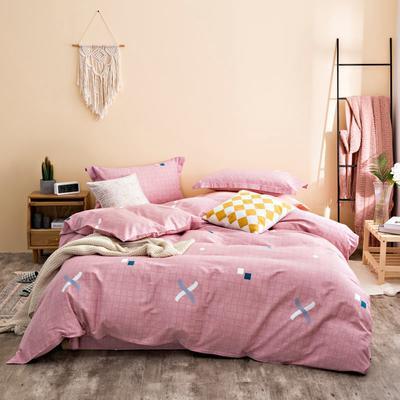 2020秋冬新品加厚全棉生态磨毛四件套 床单款四件套1.5m(5英尺)床 赛纳空间