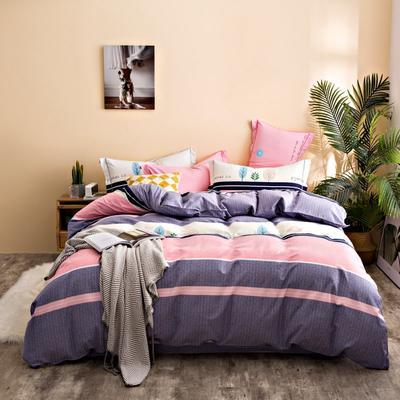 2020秋冬新品加厚全棉生态磨毛四件套 床单款四件套1.5m(5英尺)床 幸福树