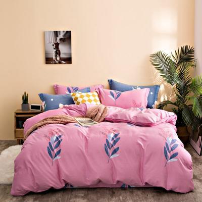 2020秋冬新品加厚全棉生态磨毛四件套 床单款四件套1.5m(5英尺)床 叶之语