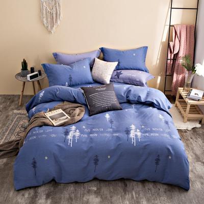2020秋冬新品加厚全棉生态磨毛四件套 床单款四件套1.5m(5英尺)床 印象派