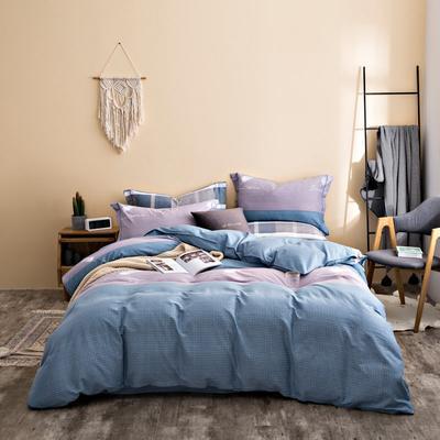 2020秋冬新品加厚全棉生态磨毛四件套 床单款四件套1.5m(5英尺)床 羽爱