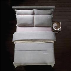梦幻之城家纺现代简约床上用品色织棉麻四件套 1.8米床适用 罗纳德