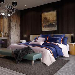 梦幻之城高端床品水洗真丝商务四件套贡缎长绒棉六件套 1.5m(5英尺)床 乌迪尔