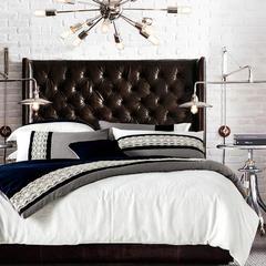 梦幻之城简约现代家纺水洗棉麻四件套六件套 1.5m(5英尺)床 布兹