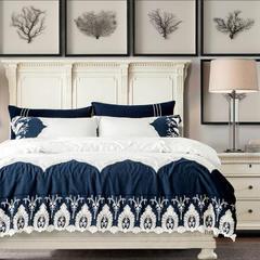 梦幻之城简约现代家纺水洗棉麻四件套六件套 1.5m(5英尺)床 切斯特