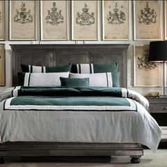 梦幻之城简约现代家纺水洗棉麻四件套六件套 1.5m(5英尺)床 巴德