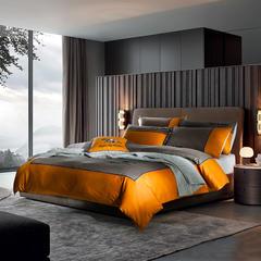 梦幻之城家纺欧式高档床上用品男士休闲六件套 1.5米床适用 奥布里