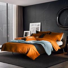 梦幻之城家纺欧式高档床上用品男士休闲六件套 1.5米床适用 安西尔