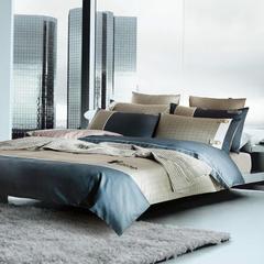 梦幻之城家纺欧式高档床上用品男士休闲六件套 1.5米床适用 巴顿