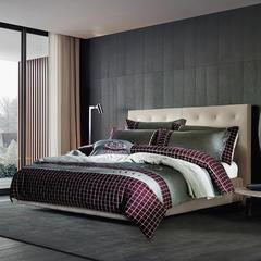 梦幻之城家纺欧式高档床上用品男士休闲六件套 1.5米床适用 柏格