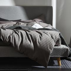 灯芯绒四件套 1.8m(6英尺)床 浅灰色