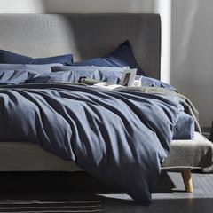 灯芯绒四件套 1.8m(6英尺)床 蓝灰