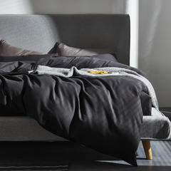 灯芯绒四件套 1.8m(6英尺)床 深灰色
