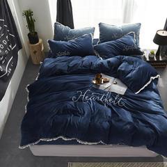 宝宝绒四件套 1.5m(5英尺)床 深蓝