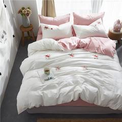60长绒棉绣花小清新款 1.8m(6英尺)床 花季