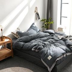 拼角水洗棉四件套 1.5m(5英尺)床 深灰