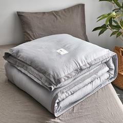 水洗棉冬被 180x220cm(6斤)秋冬被 浅灰