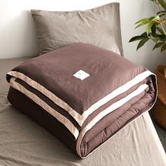 水洗棉冬被 150x200cm(5斤)春秋被 深咖