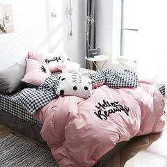 棉加绒四件套 1.8m(6英尺)床 你好