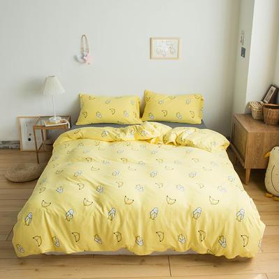 2020新款針織棉四件套 1.2m床單款三件套 淘氣香蕉