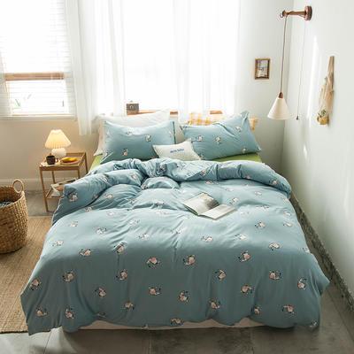 2020新款針織棉四件套 1.5m床單款四件套 斑馬彼得
