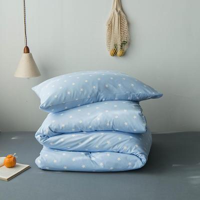 2020新款針織棉四件套 1.5m床單款四件套 五角星蘭