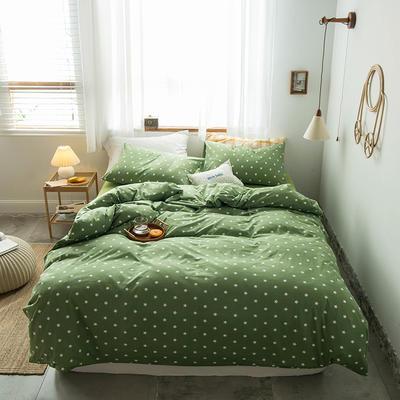 2020新款針織棉四件套 1.5m床單款四件套 五角星綠