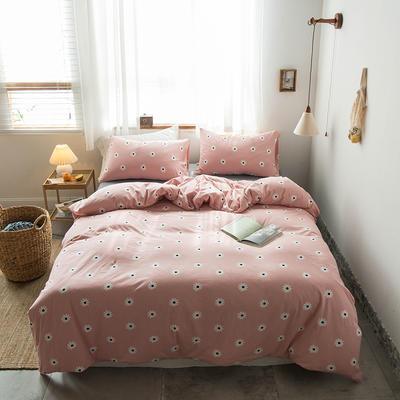 2020新款針織棉四件套 1.5m床單款四件套 向日葵粉