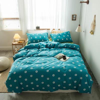 2020新款針織棉四件套 1.5m床單款四件套 向日葵綠