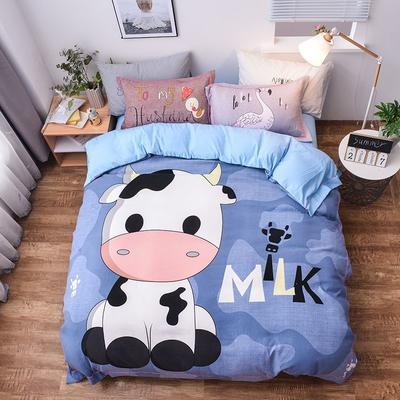 2019新款欧式棉大版四件套 1.5m床单款 奶牛先生