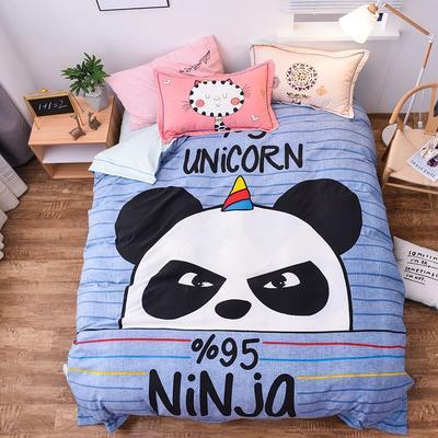 2019新款欧式棉大版四件套 1.5m床单款 忍者熊猫