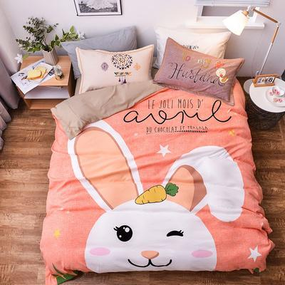 2019新款欧式棉大版四件套 1.8m床单款 兔宝宝