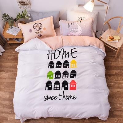 2019新款欧式棉大版四件套 1.8m床单款 幸福之家