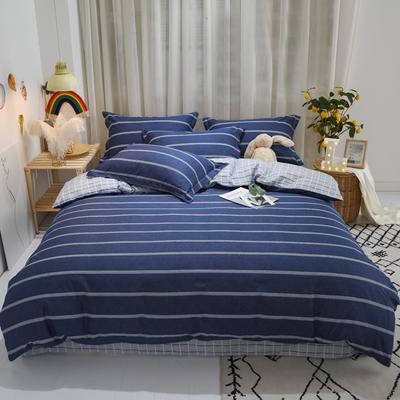 2020新款全棉喷气13070床笠四件套床单四件套三件套-实拍图 1.2m床单款三件套 芬迪