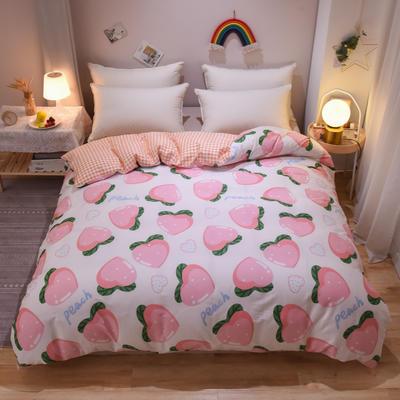 2020新款全棉13070单被套 180x220cm 爱心草莓