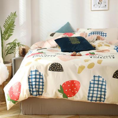 2020新款全棉四件套-北欧小清新系列 1.2m床单款三件套 草莓派
