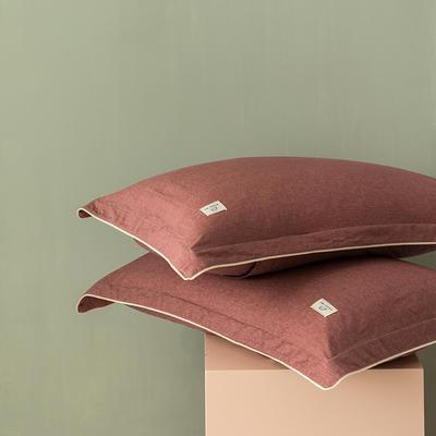 2020新款130*70纯色全棉单品枕套 48cmX74cm/一对 3小豆