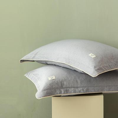 2020新款130*70纯色全棉单品枕套 48cmX74cm/一对 4白练