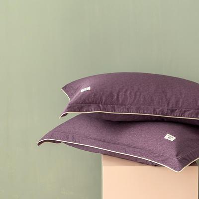 2020新款130*70纯色全棉单品枕套 48cmX74cm/一对 6菖蒲