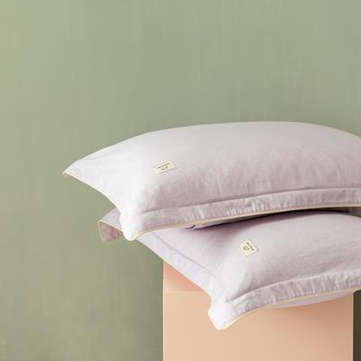 2020新款130*70纯色全棉单品枕套 48cmX74cm/一对 8秋樱