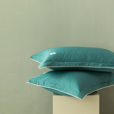 2020新款130*70纯色全棉单品枕套 48cmX74cm/一对 9千草