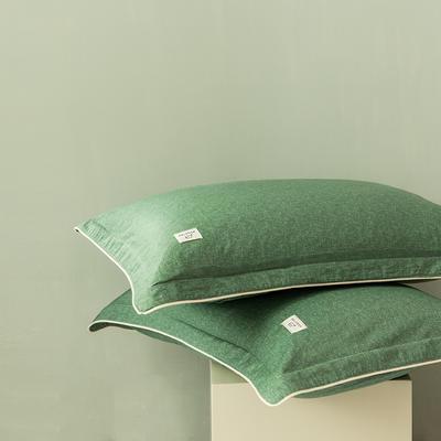 2020新款130*70纯色全棉单品枕套 48cmX74cm/一对 10松叶